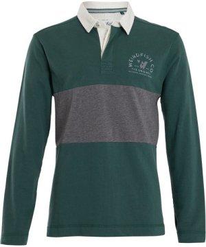 Weird Fish Loxhore Rugby Shirt Dark Green Size L