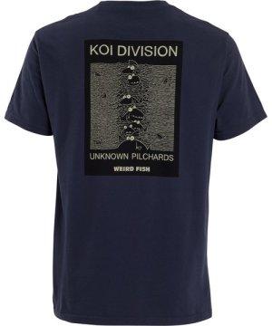 Weird Fish Koi Division Artist T-Shirt Navy Size XL