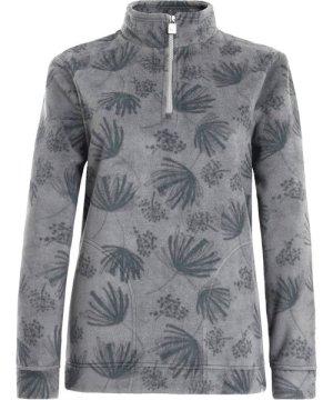 Weird Fish Emara Printed Fleece Frost Grey Size 16