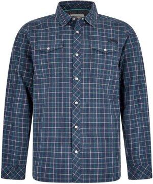 Weird Fish Braunton Long Sleeve Checkered Shirt Denim Size 4XL