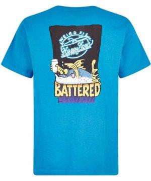Weird Fish Battered Artist T-Shirt Blue Wash Size L