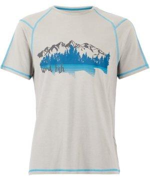 Weird Fish Alastor Printed Bamboo T-Shirt Pearl Grey Size L