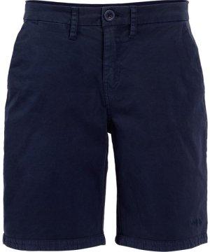 Weird Fish Naila Plain Chino Shorts Dark Navy Size 14