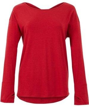 Weird Fish Iris Bamboo Long Sleeve T-Shirt Rich Red Size 14