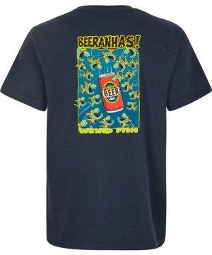 Weird Fish Beeranhas Artist T-Shirt Navy Size S