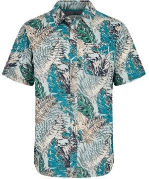 Weird Fish Dashbeck Short Sleeve Hawaiian Print Shirt Lead Size M