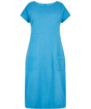 Weird Fish Talia Plain Jersey Dress Blue Wash Size 12