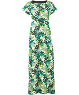 Weird Fish Mirren Jersey Maxi Dress Army Green Size 22