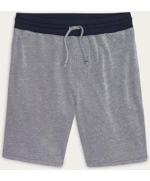 Navy White Key Piqué Shorts