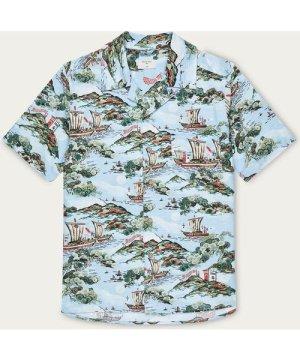 Merchant Sky Cuban Short Sleeve Shirt