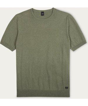 Mid Green Jones Knitted T-Shirt