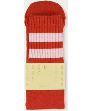 Pureed Pumkin/Pink Unisex Tube Socks