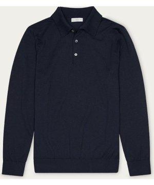 Dark Navy Lewis Cotton Polo