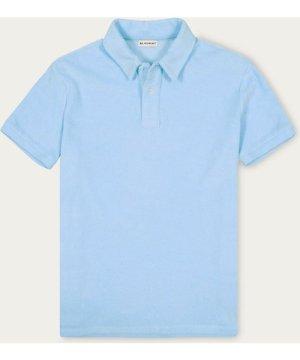 Ice Blue Yam Polo Shirt