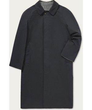 Black Runcorn Reversible Long Raincoat