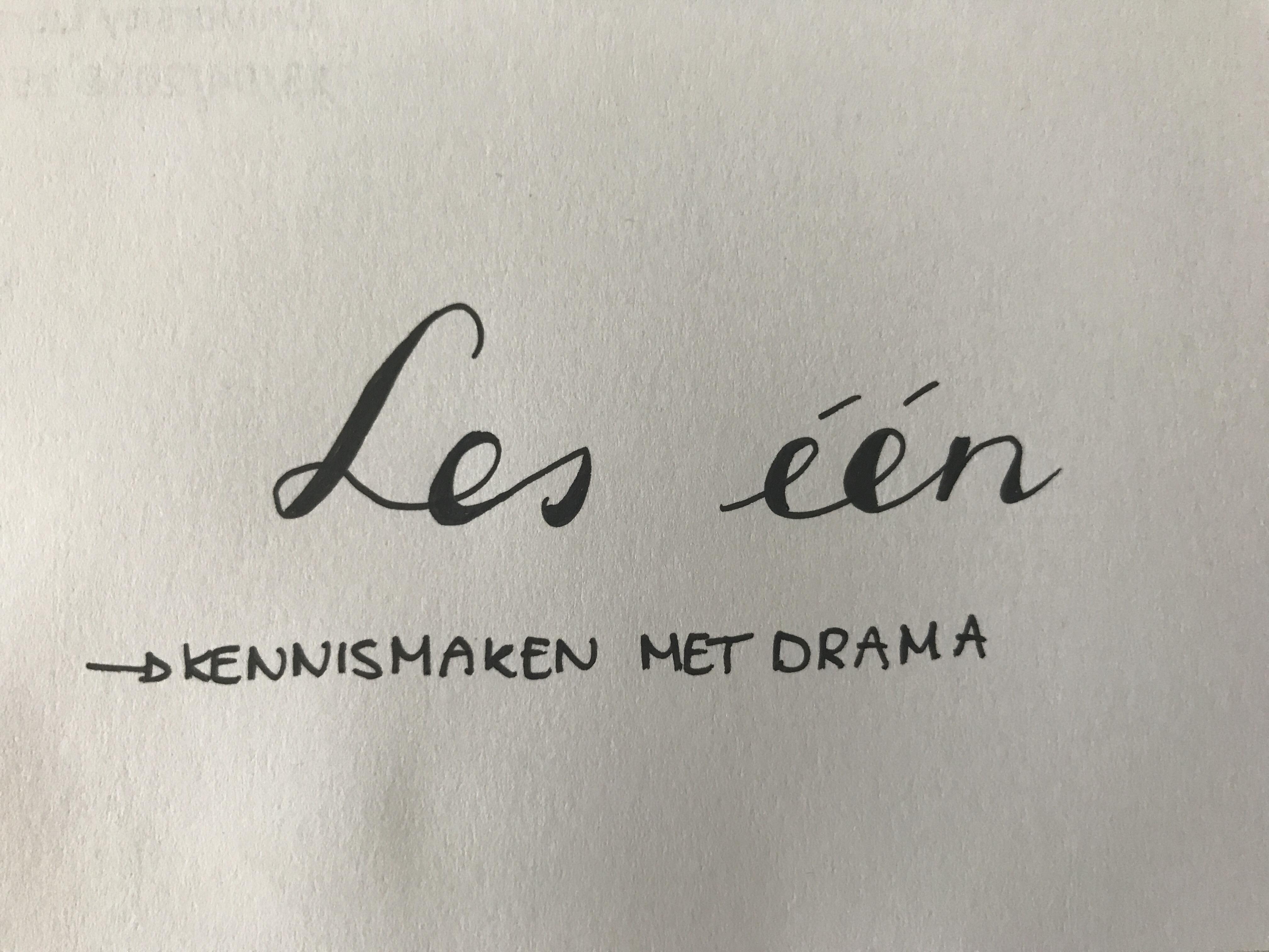 Les één: kennismaken met drama