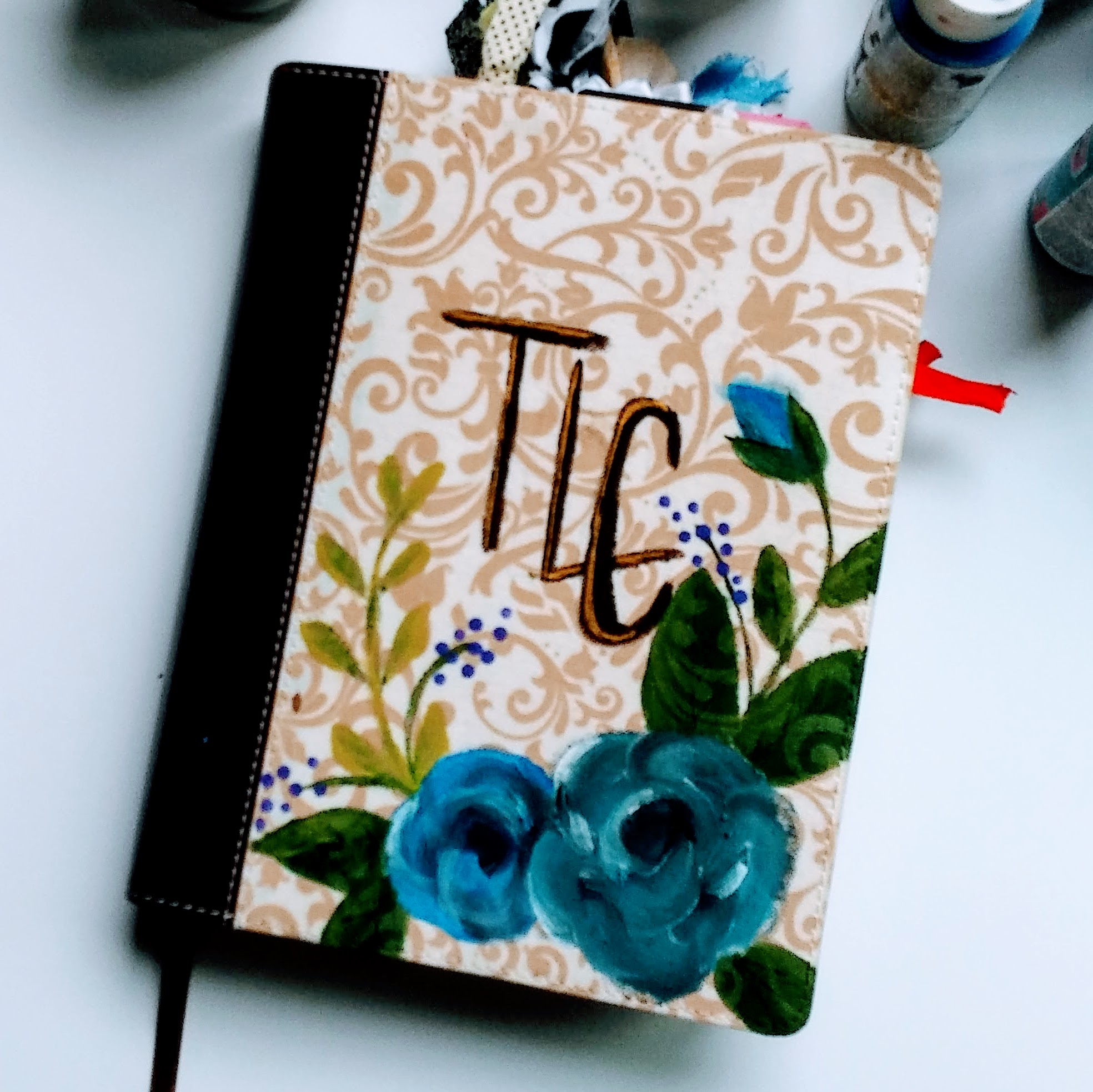 Journaling Bible painted cover