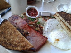Ham and Eggs from East Beach Grill