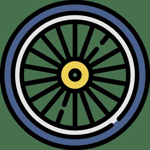 artwork of a bike tire