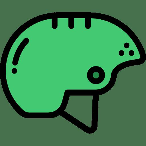 An artwork of a green helmet