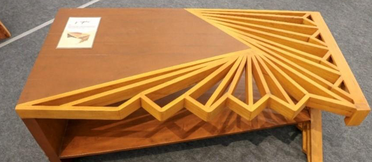 table made from rubber tree