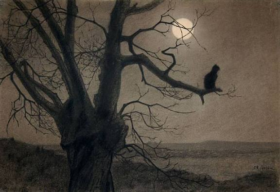 Cat in the Moonlight by Theophile Steinlen