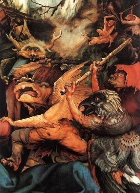 Demons Armed with Sticks by Matthias Grünewald