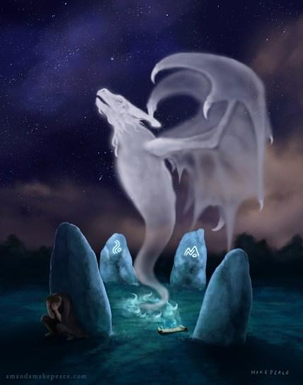 Dragon Stones Original Framed
