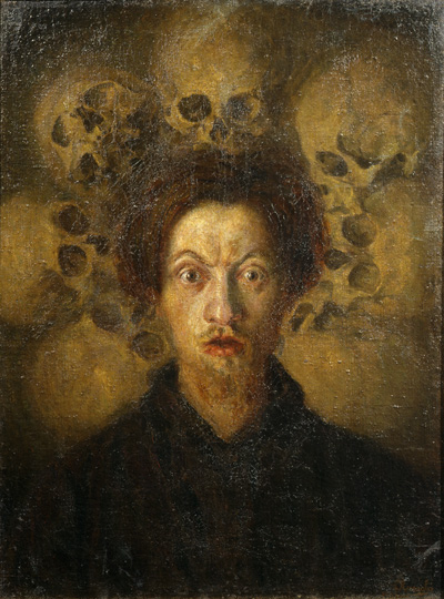 Self-portrait with Skulls, 1909 by Luigi Russolo