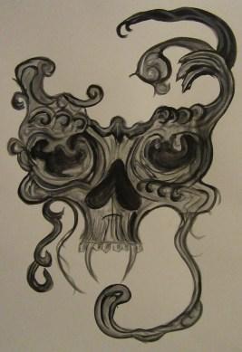 Diabolos - 18x24 - Watercolor - $20