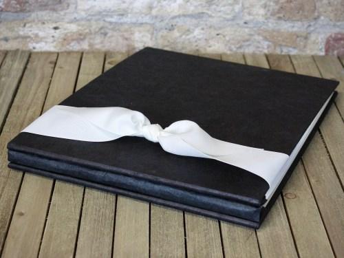 black handmade paper