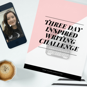Three Day Inspired Writing Challenge