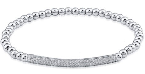 Betty - Stretch CZ Bar Bracelet