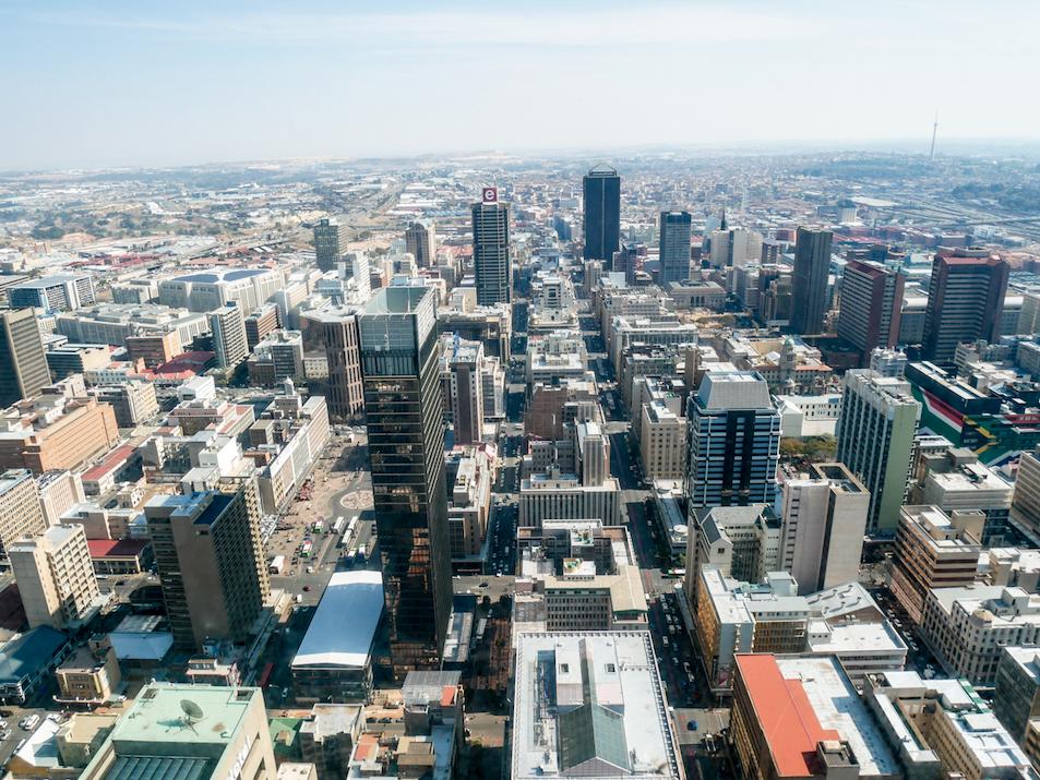 Uitkijk over Johannesburg