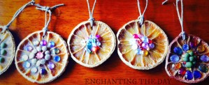 DIY Orange Holiday Ornaments--A Slice of Rustic Sparkle by Tess Whitehurst