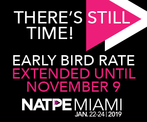 Early Bird Rate Extended Until November 9, 2018