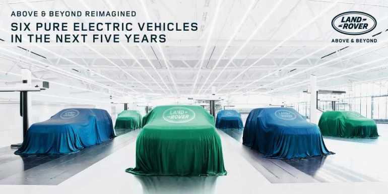 6 nuovi modelli elettrici per Land Rover