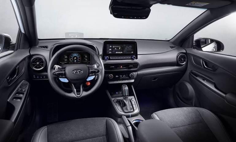 Interni dedicati della nuova Hyundai Kona N
