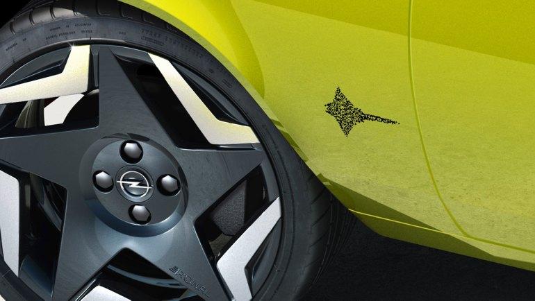 Opel Manta GSe codice QR code Design iQR code