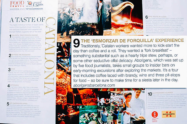 Food and Travel Magazine talks about Aborígens Barcelona