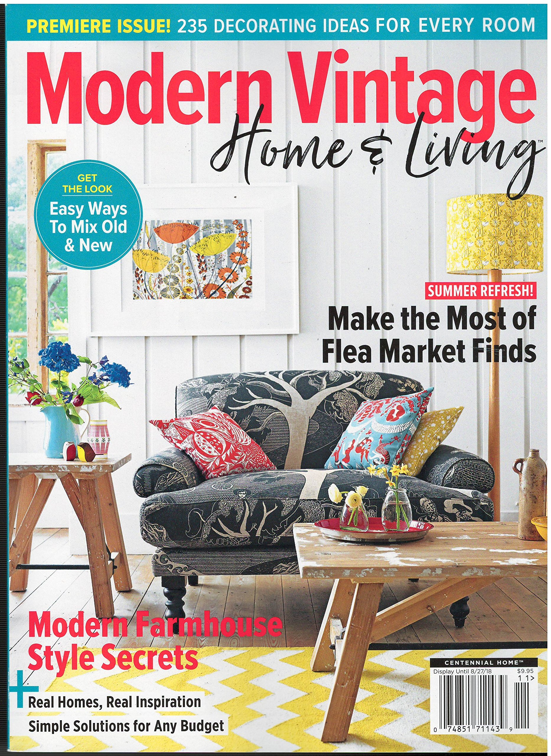 modern vintage home and living cover