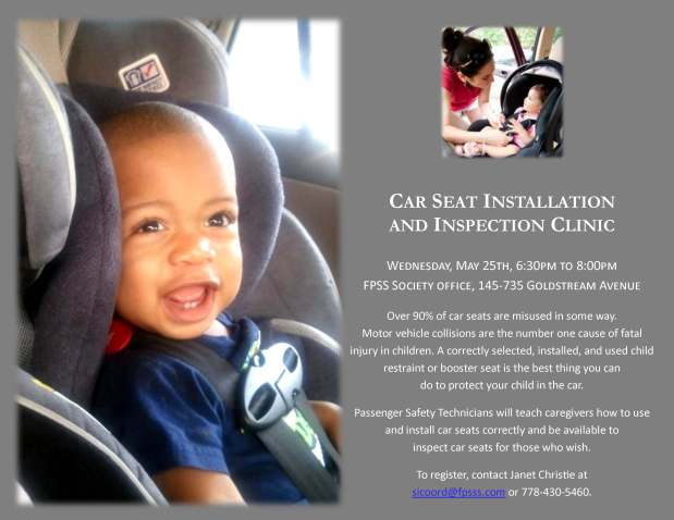 Car Seat Installation and Inspection Clinic Poster