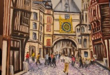 Rouen : la rue du Gros Horloge