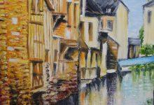 Pont-Audemer : reflets sur la Risle