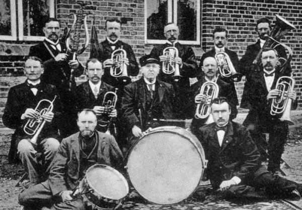 Afholdslogens hornorkester i Sønderborg omkr. 1880.