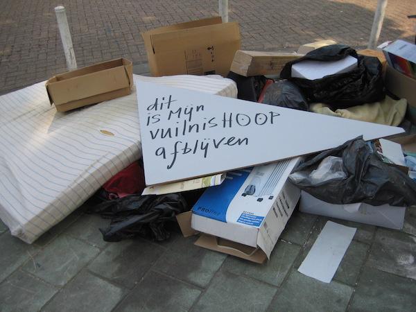 vuilnishoop nederland, grofvuil amsterdam, vuilnis, project, robert, pennekamp, afval, grof, gemeente, oost, watergraafsmeer, amsterdam, recycyle, kunst