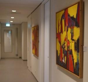 schilderij abstract, schilderij, schilderijen, robert, pennekamp, abstract, expressief, 2015, kantoor, muur, wachtkamer, gang, entree, representatief