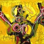Getild Paard, Robert, Pennekamp, Robert Pennekamp, olieverf, linnen, painting, oil, schilderij, 476, gemengde technieken
