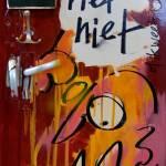 Wim T. Schippers, bekende nederlander, harde uitspraak, ingelijste, koelkast, deur