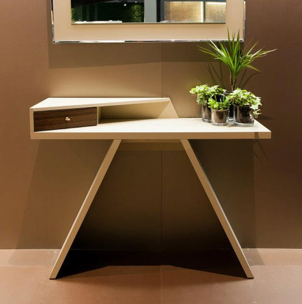mirta is a unique wooden console table